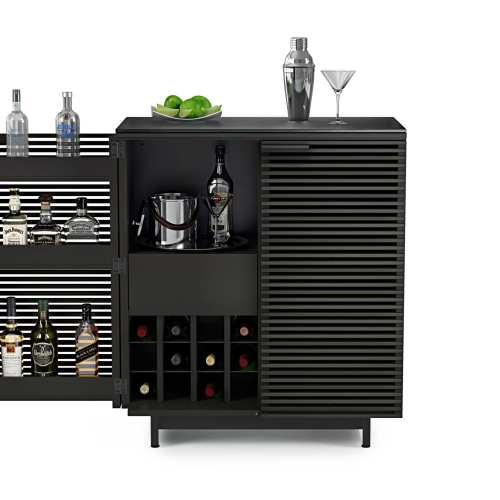 Home bar in charcoal BDI furniture