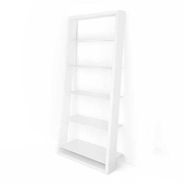 Eileen Blanc 5157 White Leaning Glass Shelf | BDI Furniture 2