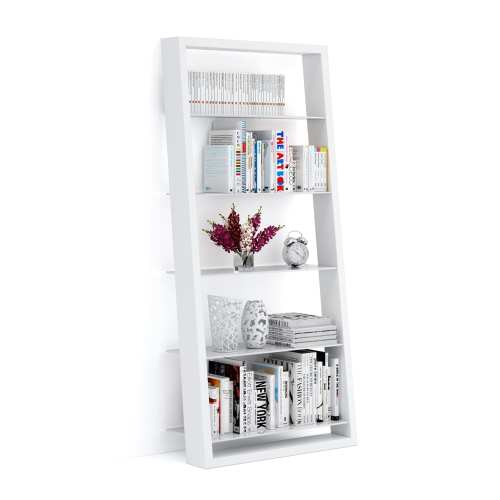Eileen Blanc 5157 White Leaning Glass Shelf | BDI Furniture 4