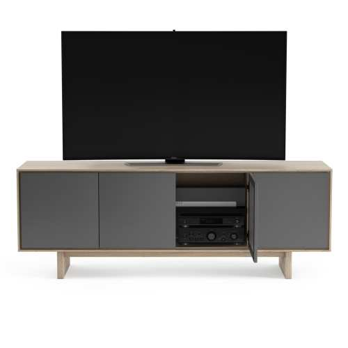 Octave Media Cabinet 8379 Drift Oak panel