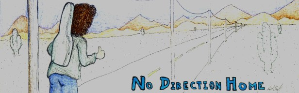Banner for the No Direction Home writing group