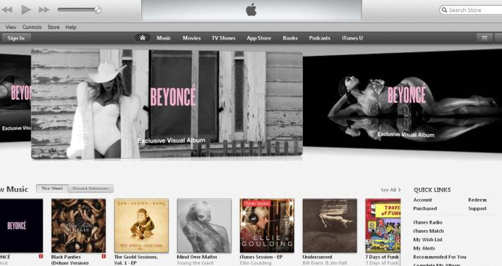 Beyonce-itunes