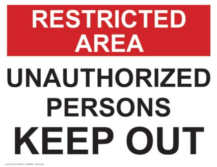 keepout-sign