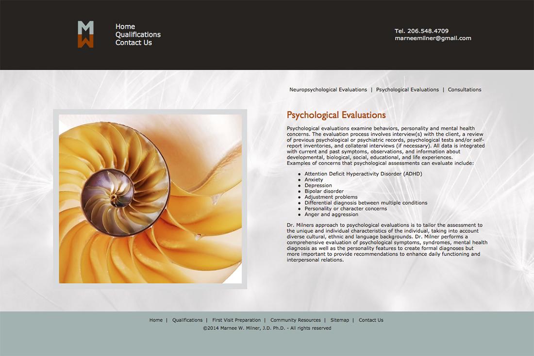 Marnee Milner website - Psychological Evaluations
