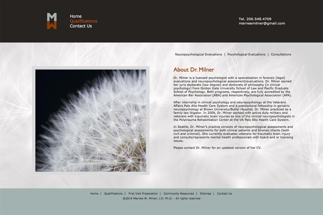 Marnee Milner website - About