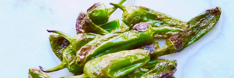 Padron peppers with smoked paprika and flaked sea salt