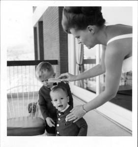 5. Hazel combing Rob's hair