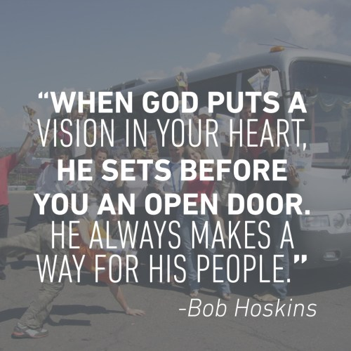 Bob Hoskins, When God Opens a Door