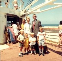 Video family on deck of ship 1968
