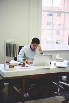 criminal lawyer at desk working