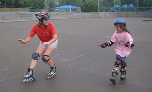 Engaging The Heel Brake on Rollerblades
