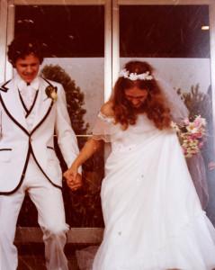 My wedding day, June 9, 1979.
