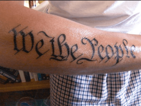 """We the People..."" makes for an awesome tattoo. Otherwise, it seems to have lost its relevance to us as a country."