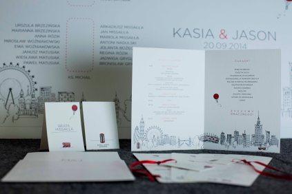 Zestaw indywidualnej poligrafii ślubnej w stylistyce polsko-brytyjskiej