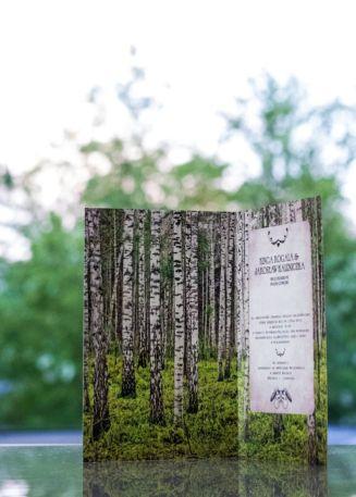 Zaproszenia na ślub z lasem