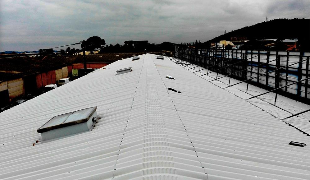 Amiante surtitre sur-toiture resine desamiantage