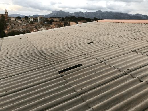 Désamiantage de toiture à Toulon