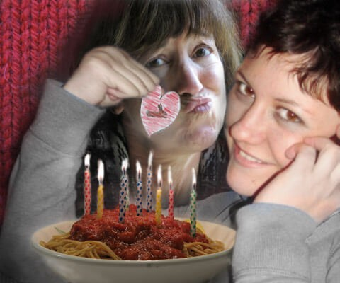 Robin Botie, mother of Marika Warden, deceased, still finds gift from her daughter who died of leukemia. Birthday spaghetti.
