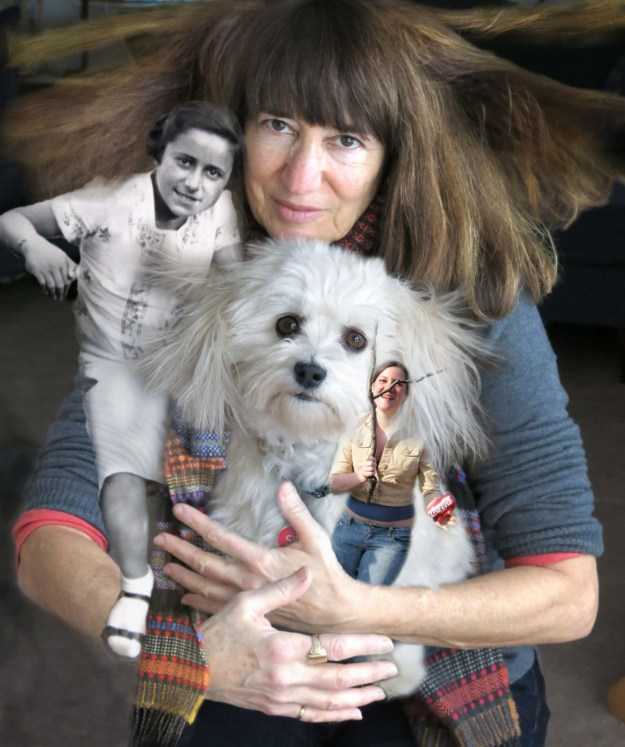 Catawampus Robin botie in Ithaca, New York, holds her her daughter, Marika Warden, her Aunt Bope as a girl, and her dog.