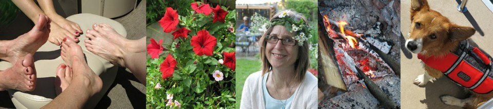 Robin Botie of Ithaca, New York, welcomes first day of summer