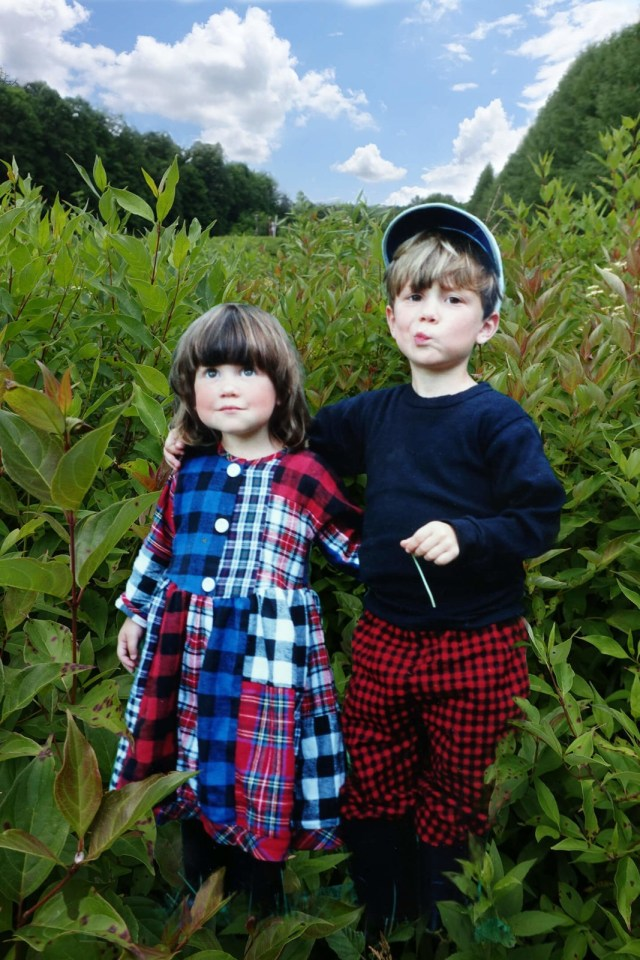 Robin Botie of Ithaca, New York, photoshops her young children growing like weeds.