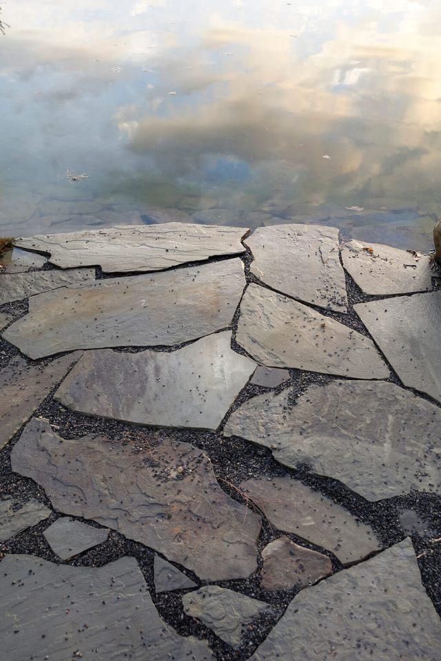 Robin Botie of Ithaca, New York, photoshops broken stones like the brokeness of memory failure.