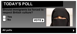 Stupid Daily Mail muslim poll