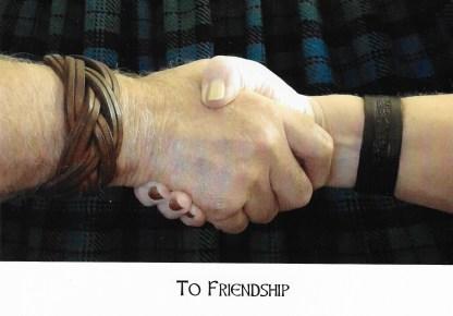 'To Friendship' celebration card