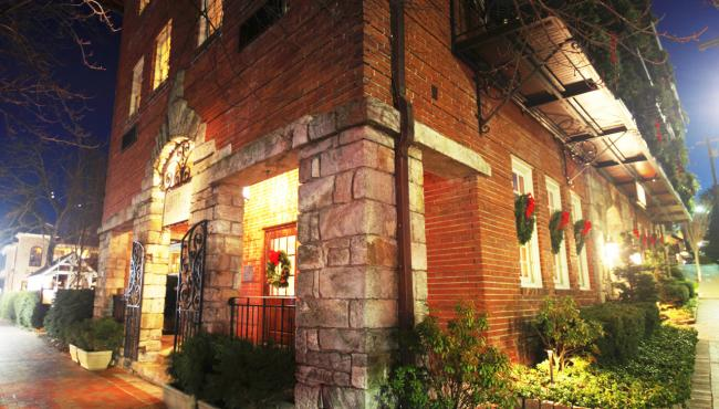 Old Edwards Inn, Highlands, NC at Christmas