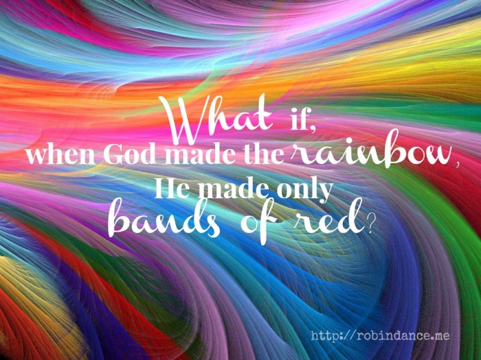 Rainbow quote by Robin Dance