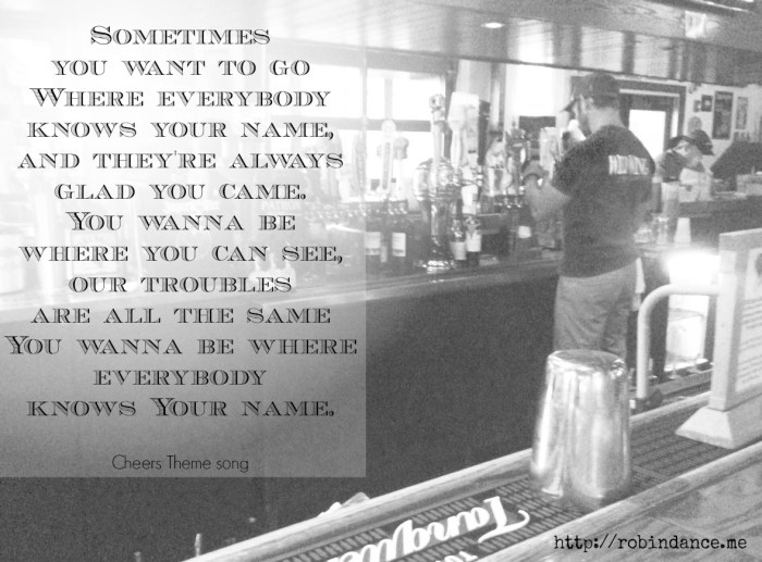 Bar - Cheers Theme Song graphic
