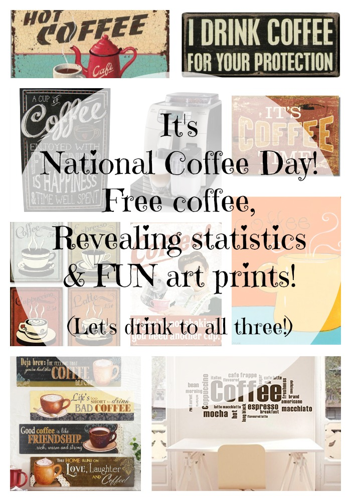 National Coffee Day Graphic and a fun post by Robin Dance