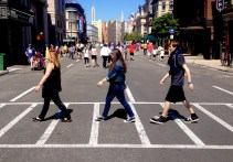 While this isn't exactly Abbey Road … I think we paid homage to the Beatles nicely.