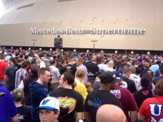 There was quite a crowd at the Mercedes-Benz Superdome as they were about to let us in. Entering the building was surprisingly easy considering how many people were there.