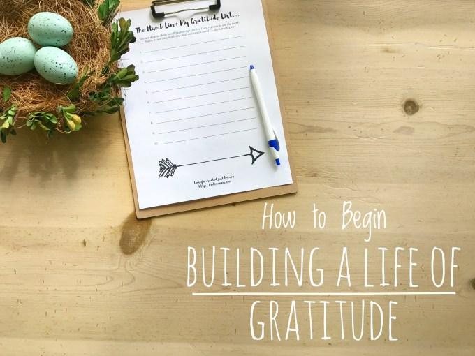 Building a Life of Gratitude