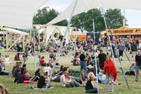 Festival-goers relaxing by Robin Elizabeth Herr