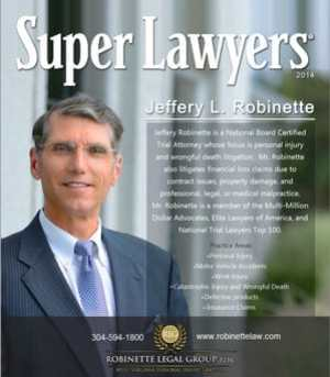 Morgantown, WV Personal Injury Attorney Jeff Robinette Named 2021 Super Lawyer