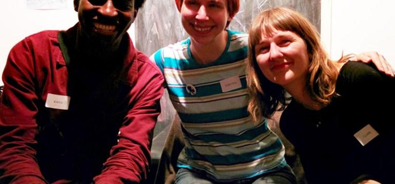 Kayo Chingonyi, Kirsten Irving, Clare Pollard at the Poetry Cafe