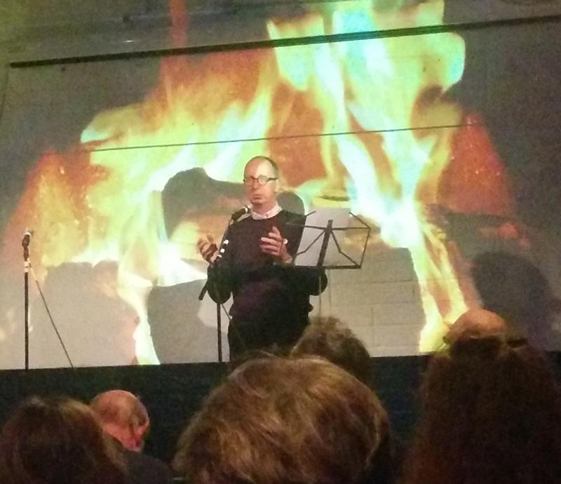 Antony Mair at the Printworks Hastings poetry slam