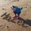hazel at the beach
