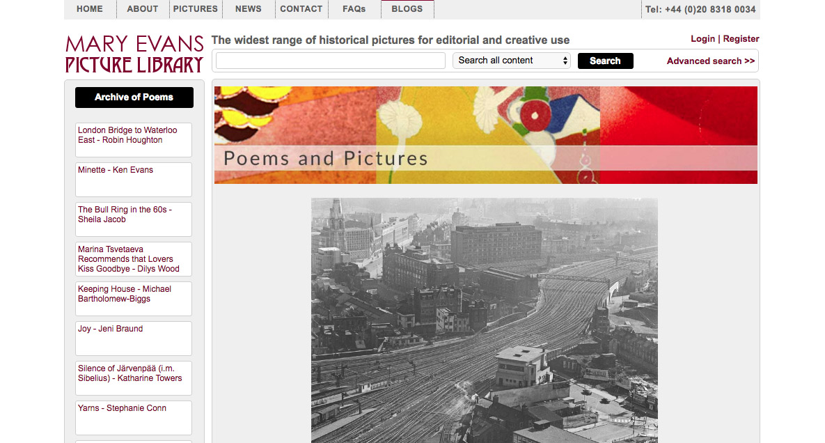 mary evans picture library - poems & pictures blog
