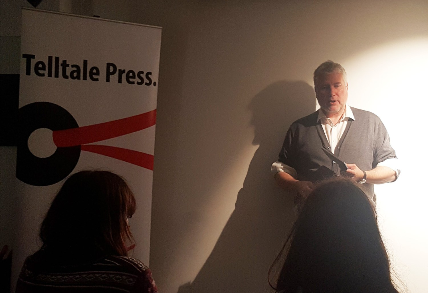Peter Kenny at Telltale Poets and Friends, the Poetry Cafe