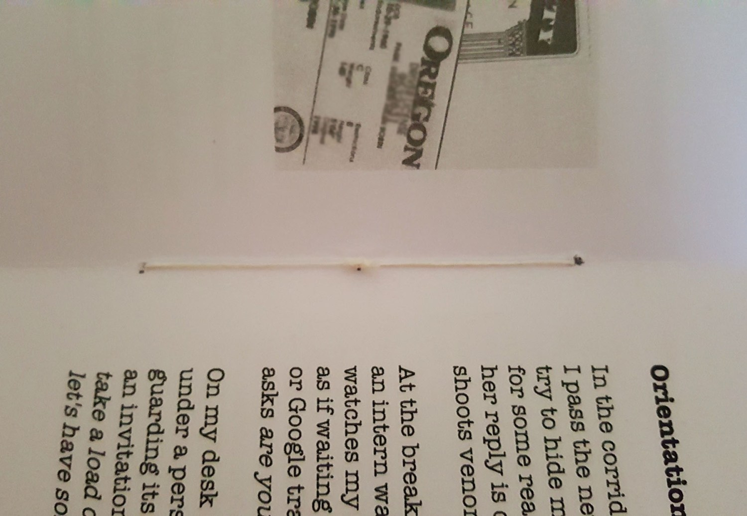 inside - binding the pamphlet