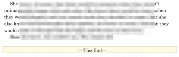 Two of My Favorite Words — The End