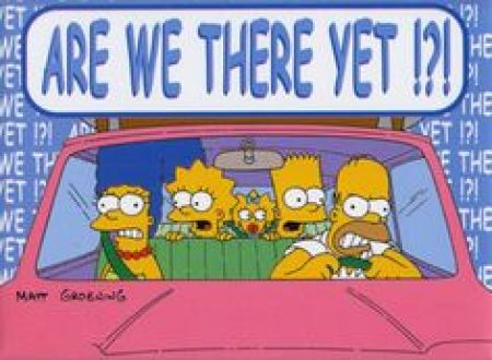 Simpson Family in the Car