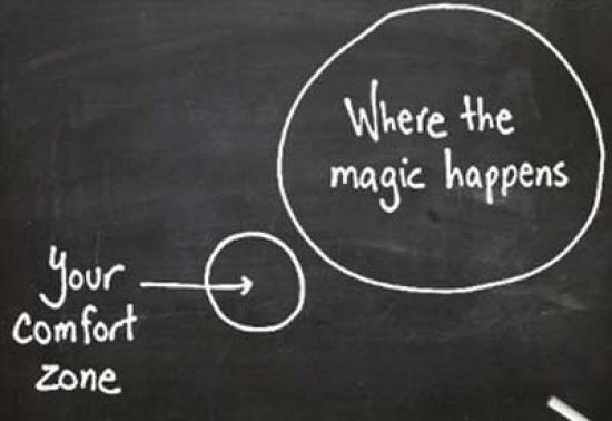 photo with comfort zone and beyond