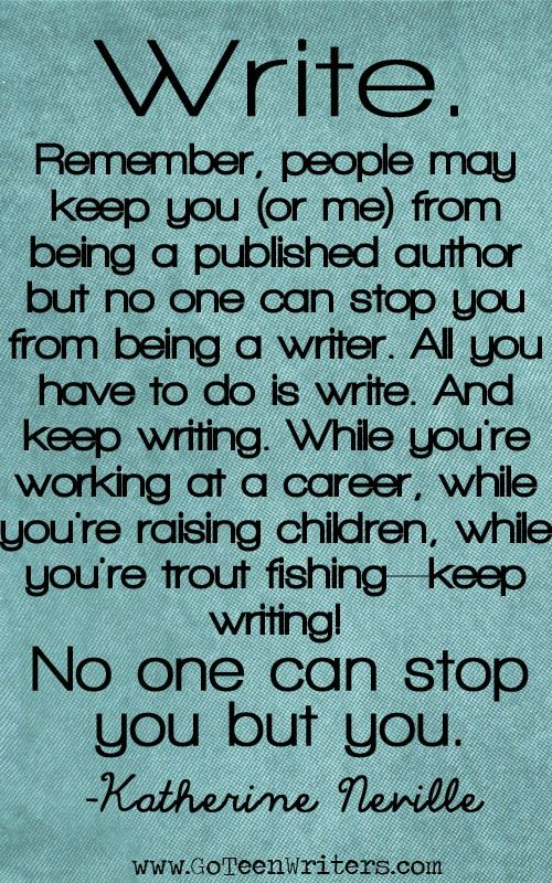quote about being a writer