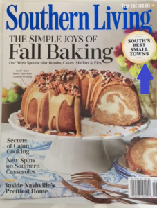 front cover of Sept 2016 issue Southern Living magazine