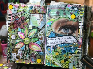 altered book journal from RobinLK Studios