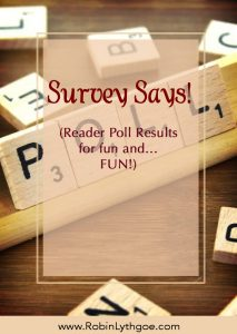 Survey Says! (Reader Poll Results)